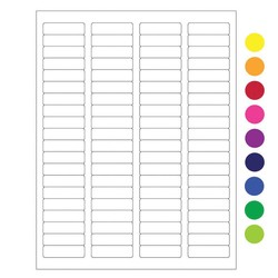 ÉtiquettesCryogéniques Pour Imprimantes Laser - 44,5 x 12,7mm (Format US Letter)