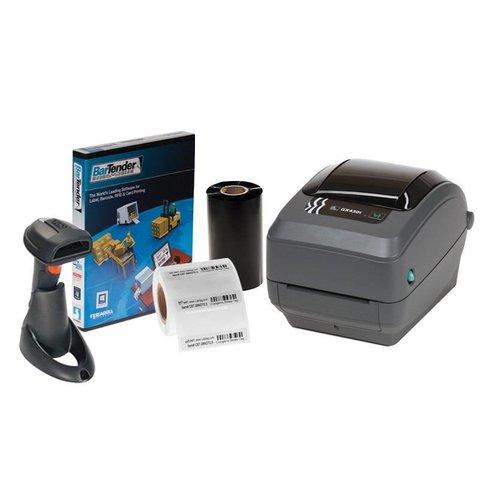 Système d'Identification Pour Cryo Pailles - Zebra GX430T Kit d'impression + Scanner