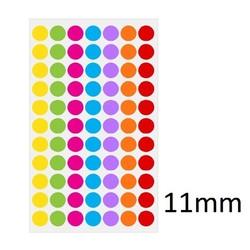 Gekleurde Ronde CryoEtikettenØ11mm (voor1,5mlmicrotubes) ** KLEURENMIX **