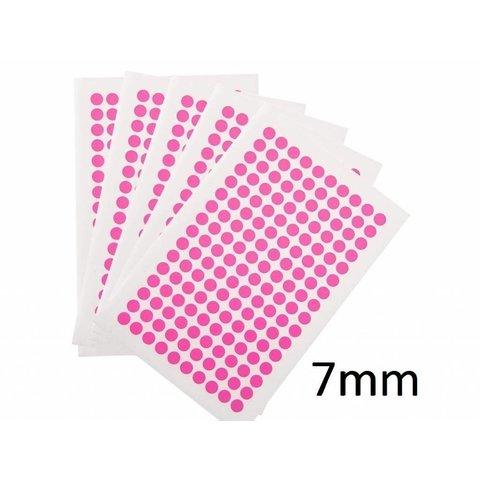 Gekleurde Ronde Cryo Etiketten - Ø 7mm (voor 0,2ml PCR tubes)
