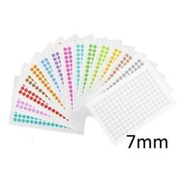 Gekleurde Ronde Cryo-Etiketten Ø 7mm (voor 0,2ml PCR tubes) ** ASSORTI **
