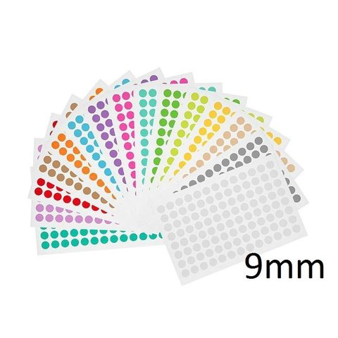 Cryo Color Dots For Microtubes - Ø 9mm (multi-colors)