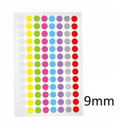 Cryo Color Dots For Microtubes - Ø 9mm ** Color - Mix **