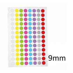 Криогенные Цветные Этикетки-Точки Ø 9 мм **Разноцветные **