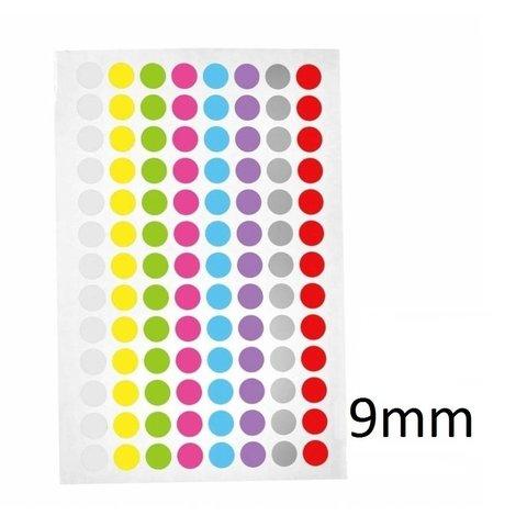 Kryo Farbpunkte - Ø 9mm - Für 0,5ml & 1,5ml Mikroröhrchen (FarbenMix)