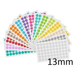 Kryo - Farbpunkte Ø13mm (Für 1,5ml Mikroröhrchen) **Farblich Sortiert**
