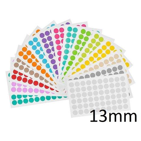 Kryo Farbpunkte - Ø 13mm - Für 1,5ml Mikroröhrchen / Farblich Sortiert