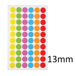 Cryo Color Dots For Microtubes - Ø 13mm ** Color - Mix **