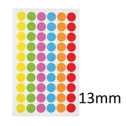 Криогенные Цветные Этикетки-ТочкиØ13мм ** Разноцветные **