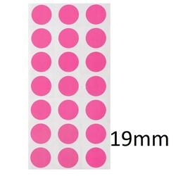 Gekleurde Ronde CryoEtikettenØ19mm (gekleurde stippen)