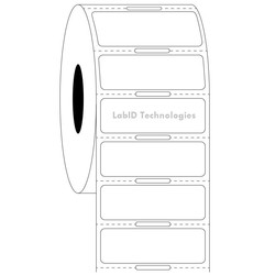 Transparent Cryo Barcode Labels 38.1mm x 12.7mm