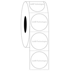 Transparent Cryo Barcode Labels 25.4mm (round)