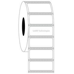Étiquettescryogéniques transparentes - 31,75x12,7mm