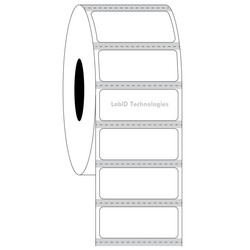 Transparent Cryo Barcode Labels 31.75mm x 12.7mm