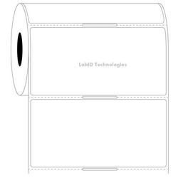 Transparent Cryo Barcode Labels 101.6mm x 50.8mm