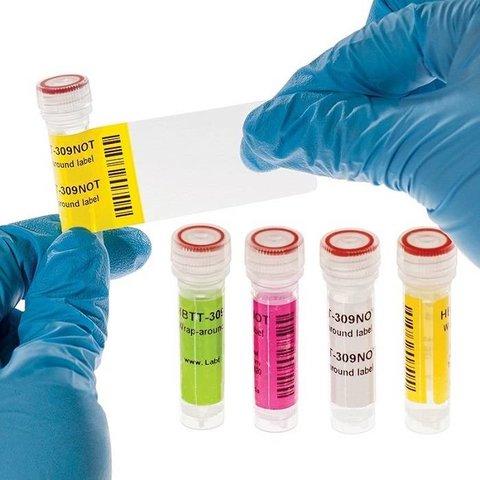 Étiquettes à Enrouler Pour Stockage Cryogénique 25,4 x 30 + 43mm