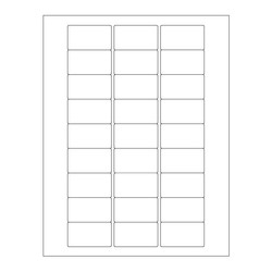 Autoclave Labels For Laser Printers - 50.8 x 28.57mm (Permanent) * For Lab Glassware *