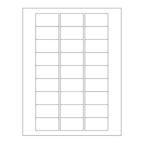 Autoclave Labels For Laser Printers - 50.8 x 28.57mm (For Lab Glassware)