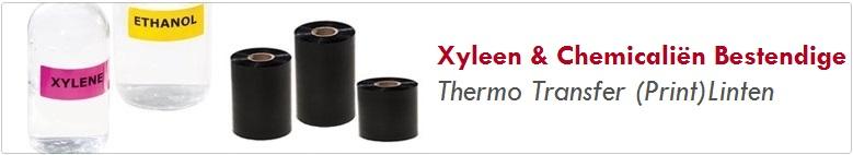 xyleen en chemicaliën bestendige thermo transfer linten