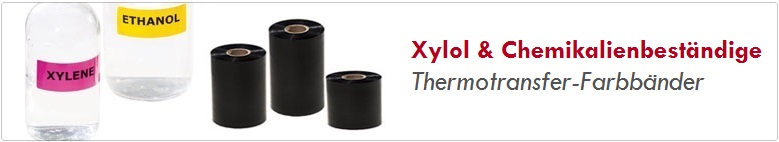 Xylol und Chemikalienbeständige Farbbänder
