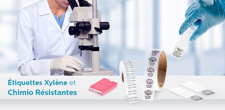 Étiquettes Xylène et Chimio Résistantes
