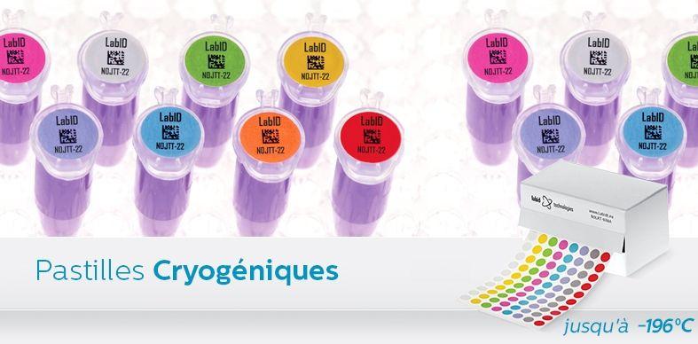 Étiquettes Cryogéniques De Couleur