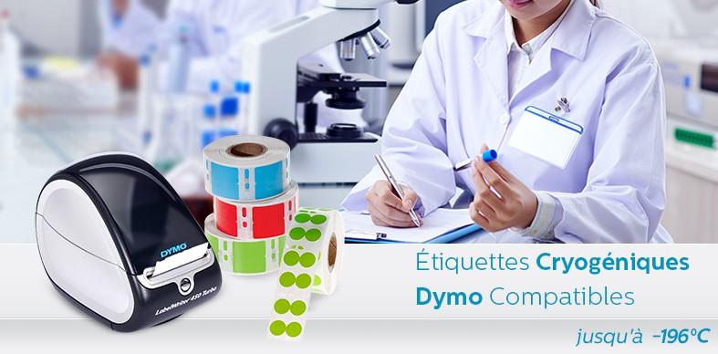 Étiquettes Cryogéniques Pour Imprimantes DYMO