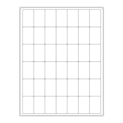 Cryo Labels For Laser Printers - 28.6 x 44.5mm (US Letter Format)
