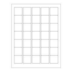 ÉtiquettesCryogéniques Pour Imprimantes Laser - 35 x 35mm (Format US Letter)