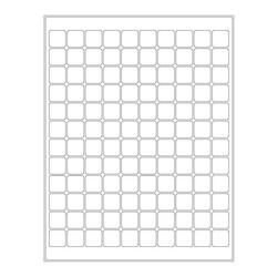 ÉtiquettesCryogéniques PourImprimantes Laser - 19,1 x 19,1mm (Format US Letter)