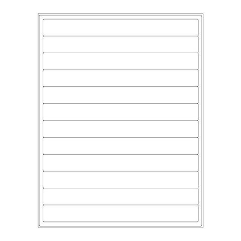 Cryo Labels For Laser Printers - 203.2 x 22.1mm (US Letter Format)