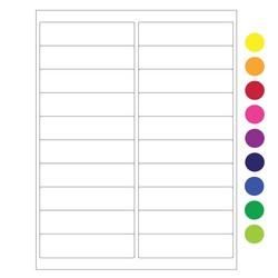 ÉtiquettesCryogéniques Pour Imprimantes Laser - 102 x 25,4mm (Format US Letter)