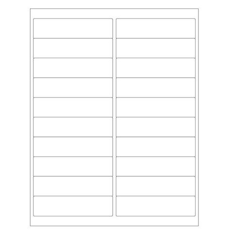 Cryo Labels For Laser Printers - 102 x 25.4mm (US Letter Format)