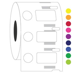 Криогенные DYMO (Димо) Этикетки - 23,9x 12,7 + Ø 11,1 мм