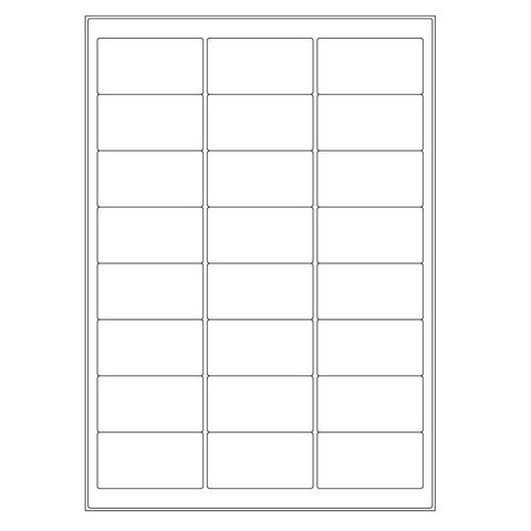Cryo Labels For Laser Printers - 63.5 x 33.8mm (A4 Format)