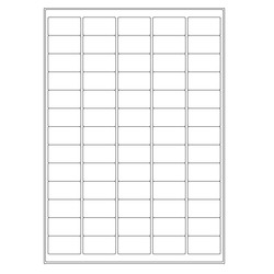 Cryo labels on sheets for laser printers 38.1 x 21.2mm (A4 format)