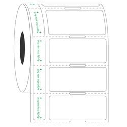 TransparenteEtiketten Für Gefrorene Gefäße 44,5 x 19,05mm