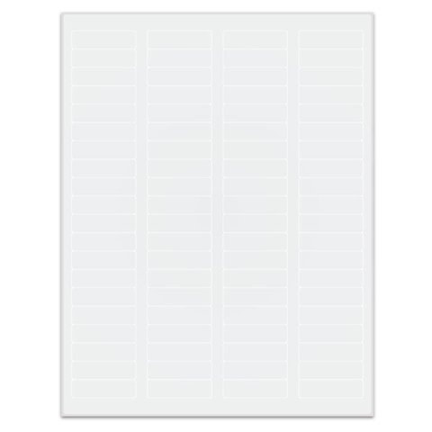 Autoclave labels for laser printers - 44.5 x 12.7mm / Removable