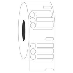 Kryo DYMO Etiketten (Tiefkühl - Etiketten) 20x5mm+Ø6,35mm