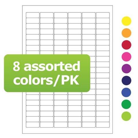 Kryo Laseretiketten Auf DIN A4-Bögen - 31,5 x 13mm (Farblich Sortiert)