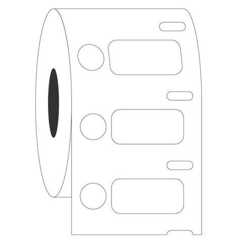 KryoDYMOEtiketten-26,4 x 12,7mm + Ø9,5mm