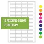 Криогенные Лазерные Этикетки 20 x 5,1 мм Для ПЦР Пробирок (Ассорти 15 Цветов)