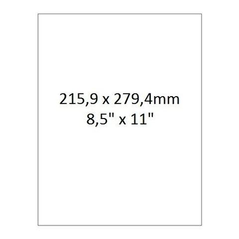Laser-Etiketten Für Autoklaven - 215,9 x 279,4mm