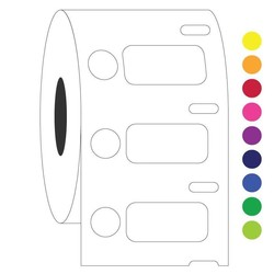 Étiquettes DYMO Cryogéniques 26,4x12,7mm+Ø9,5mm