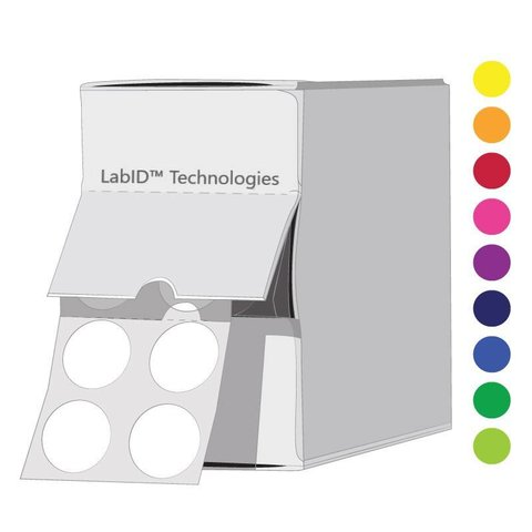 FarbigeKryo Etiketten -Ø 11mm / Spenderbox