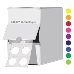 Gekleurde Cryo Etiketten - Ø 9mm / InDispenserdoos