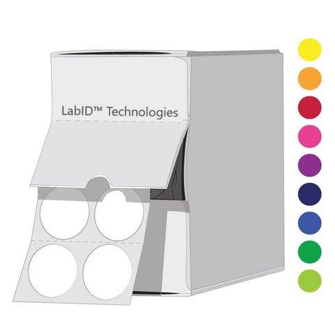 FarbigeKryo-Etiketten- Ø13mm / Spenderbox