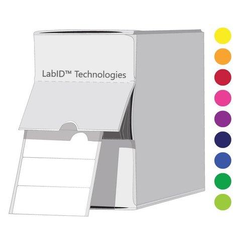 Gekleurde Cryo Etiketten - 26 x 10mm InDispenserdoos