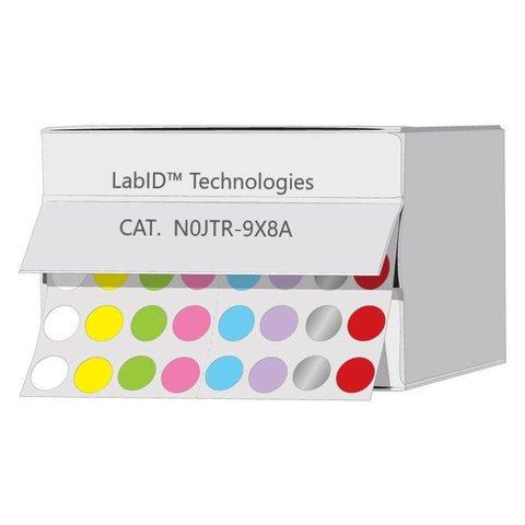 Farbige Kryo-Etiketten Ø 9mm Spenderbox (Farbenmix)