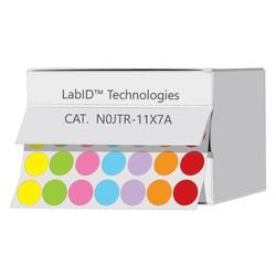 Криогенные Цветные Этикетки Ø 11 мм В Коробке-Диспенсере **Разноцветные **